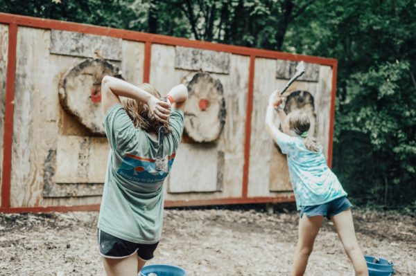 axe throwing country lake